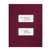 Burgundy Top-Staple Folder