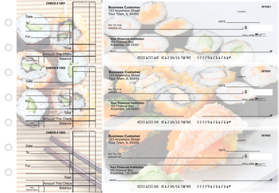 Japanese Cuisine Standard Business Checks
