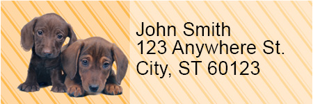 Dachshunds Pups Keith Kimberlin Address Labels