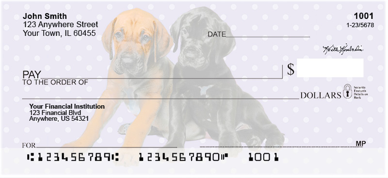 Great Dane Pups Keith Kimberlin Personal Checks