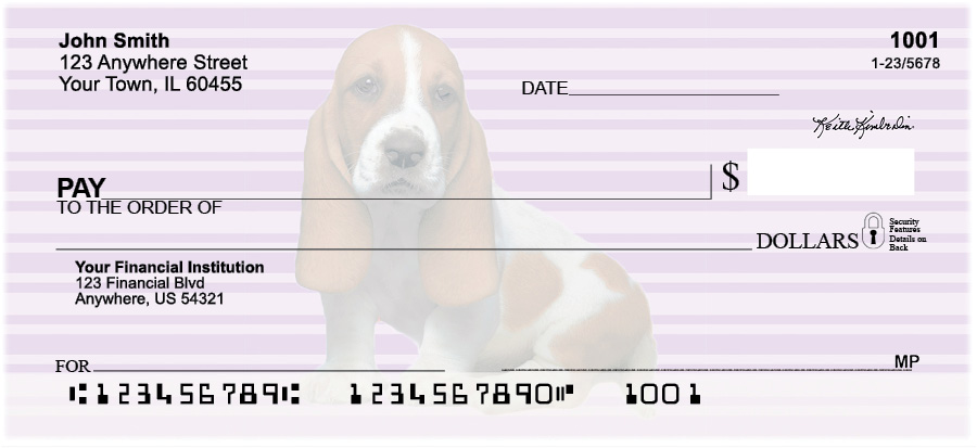 Basset Hound Pups Keith Kimberlin Personal Checks