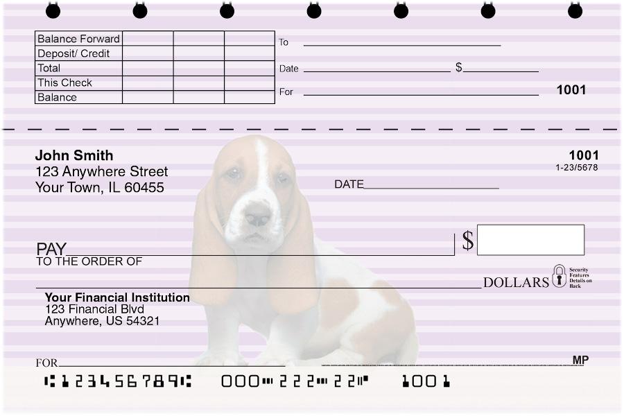 Basset Hound Pups Keith Kimberlin Top Stub Checks