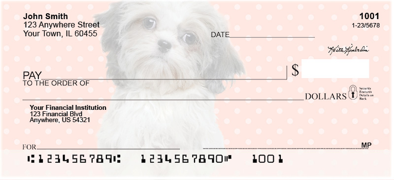 Shih Tzu Pups Personal Checks