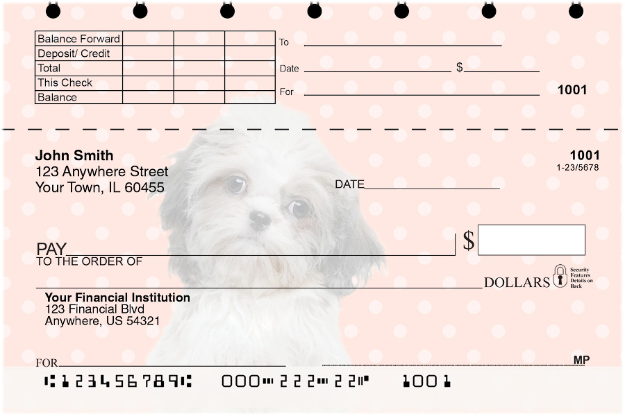 Shih Tzu Pups Keith Kimberlin Top Stub Checks