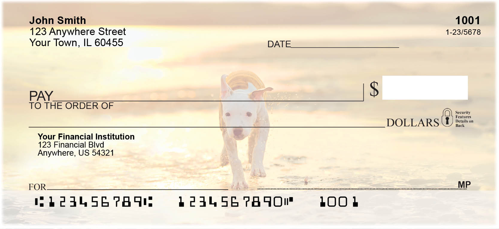 Bully Breed Appreciation Personal Checks