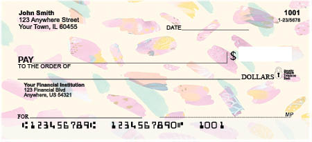 Abstract Feathers Personal Checks by EttaVee