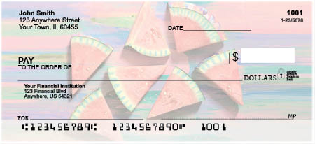 Summer Time Fruits Personal Checks by EttaVee