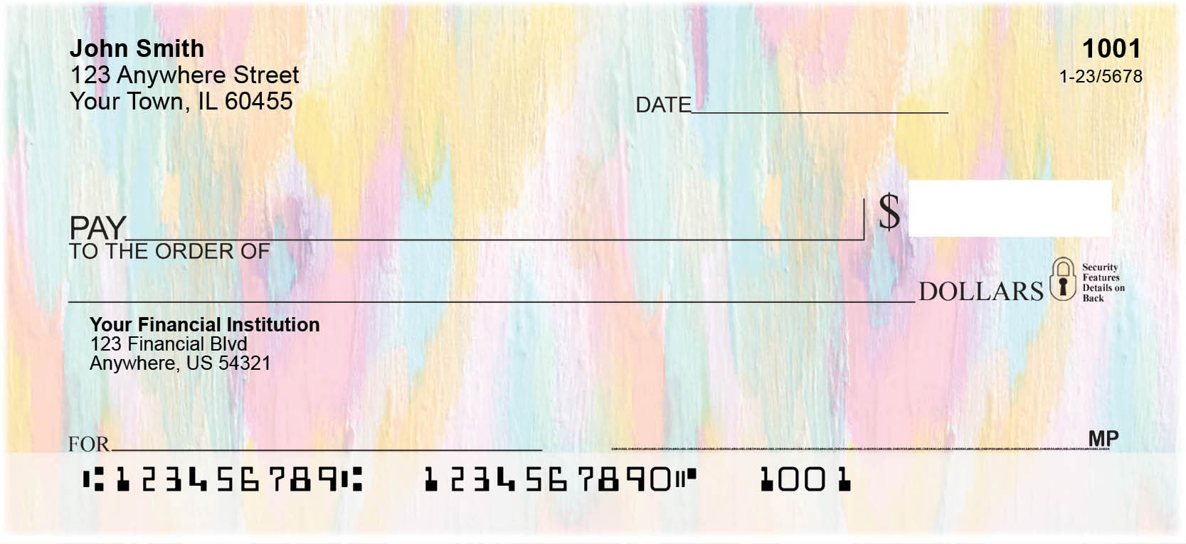 Colorful Brush Strokes Personal Checks by EttaVee