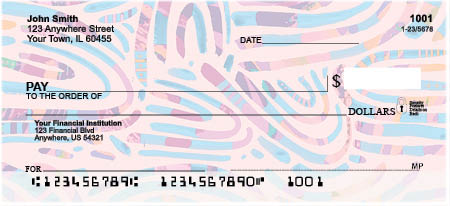 Groovy Arches Personal Checks by EttaVee