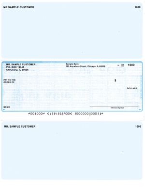 Teal Linen Laser Business One Per Page Voucher Checks - Middle Style $ 11.99