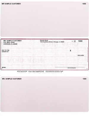 Burgundy Saftey Laser Business One Per Page Voucher Checks - Middle $ 11.99