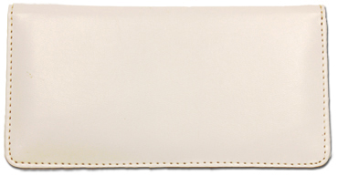 White Smooth Leather Cover