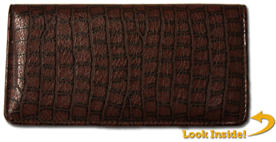 Reptile Brown Textured Leather Cover