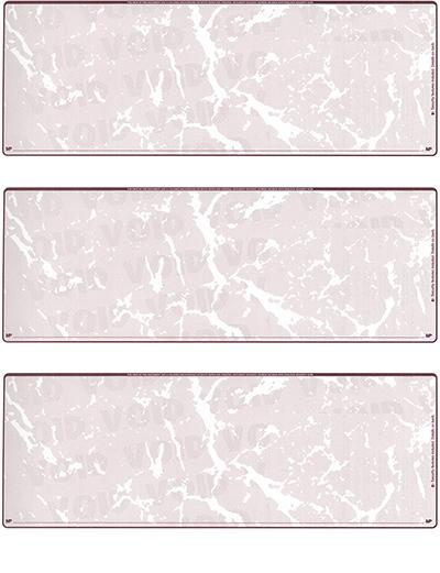 Burgundy Marble Blank 3 Per Page Laser Checks