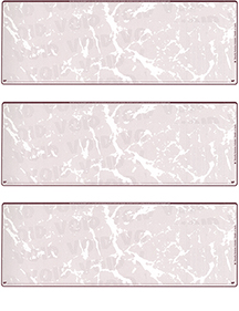 Burgundy Marble Blank Stock For 3 to a Page Voucher Computer Checks