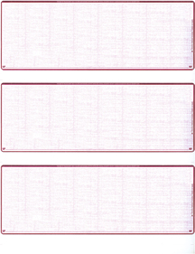 Burgundy Safety Blank Stock For 3 to a Page Voucher Computer Checks