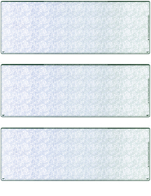 Blue Green Blank stock For 3 to a Page Voucher Computer Check