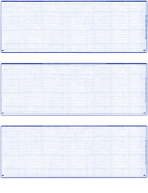Blue Safety Blank 3 Per Page Laser Checks