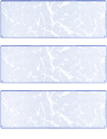 Blue Marble Blank Stock For 3 to a Page Voucher Computer Checks