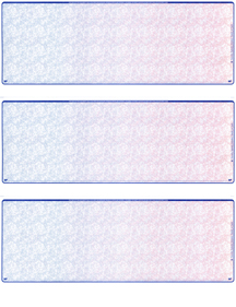Blue Red Blank Stock For 3 to a Page Voucher Computer Checks