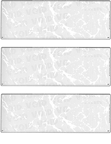 Grey Marble Blank Stock For 3 to a Page Voucher Computer Checks
