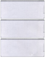 Grey Safety Blank 3 Per Page Laser Checks