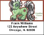 Greens Mix - My Little Demon Address Labels