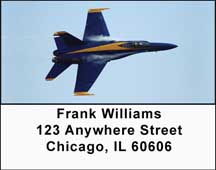 Navy Stunt Planes Address Labels