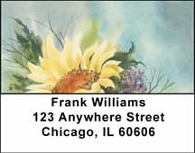 Watercolor Sunflowers Address Labels