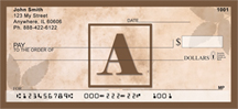 Simplistic Monogram A Personal Checks