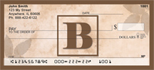 Simplistic Monogram B Personal Checks