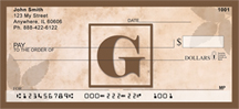 Simplistic Monogram G Personal Checks