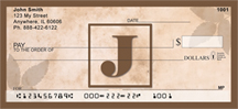 Simplistic Monogram J Personal Checks
