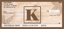 Simplistic Monogram K Personal Checks