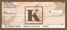 Monogram Letter K Simplistic