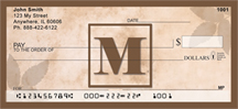 Simplistic Monogram M Personal Checks