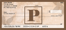 Simplistic Monogram P Personal Checks