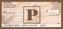 Monogram Letter P Simplistic