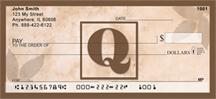 Monogram Letter Q Simplistic