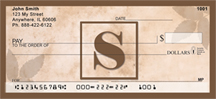 Simplistic Monogram S Personal Checks