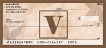 Simplistic Monogram V Personal Checks