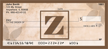 Simplistic Monogram Z Personal Checks