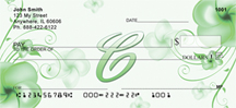 Monogram Letter C Pretty Floral Checks