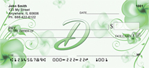 Floral Monogram D Personal Checks