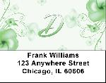Floral Monogram D Address Labels