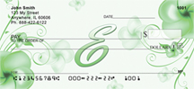 Floral Monogram E Personal Checks