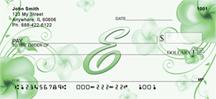 Monogram Letter E Pretty Floral Checks