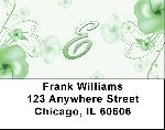 Floral Monogram E Address Labels