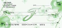 Floral Monogram F Personal Checks