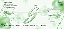 Monogram Letter G Pretty Floral Checks